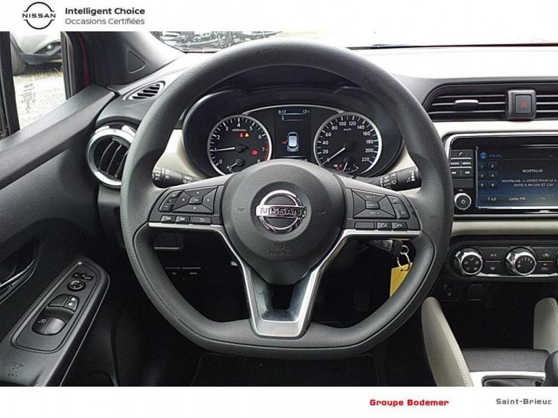 Nissan Micra 2017 1.0 - 71 Acenta Rouge occasion à SAINT-BRIEUC - photo n°7