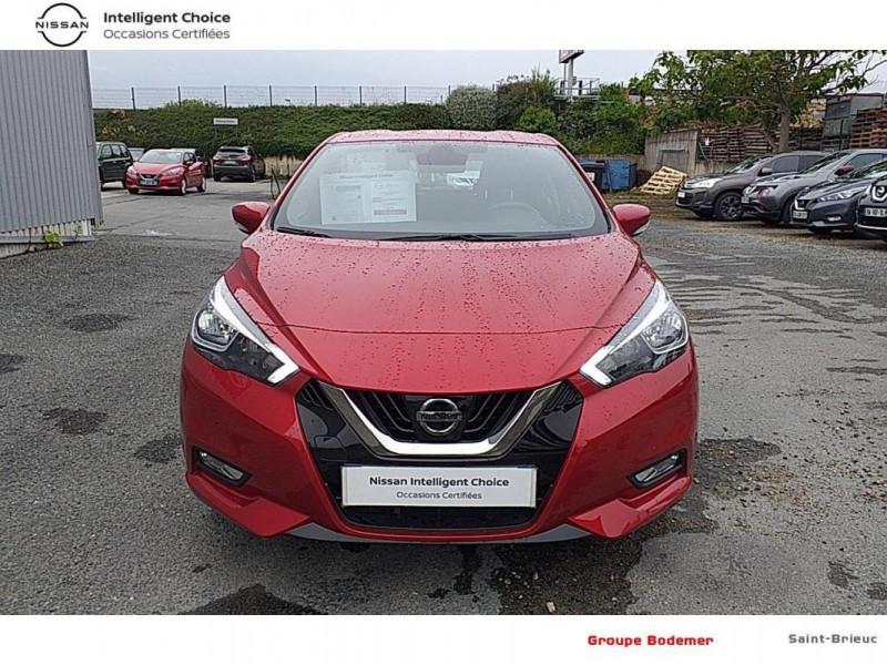 Nissan Micra 2017 1.0 - 71 Acenta Rouge occasion à SAINT-BRIEUC - photo n°5
