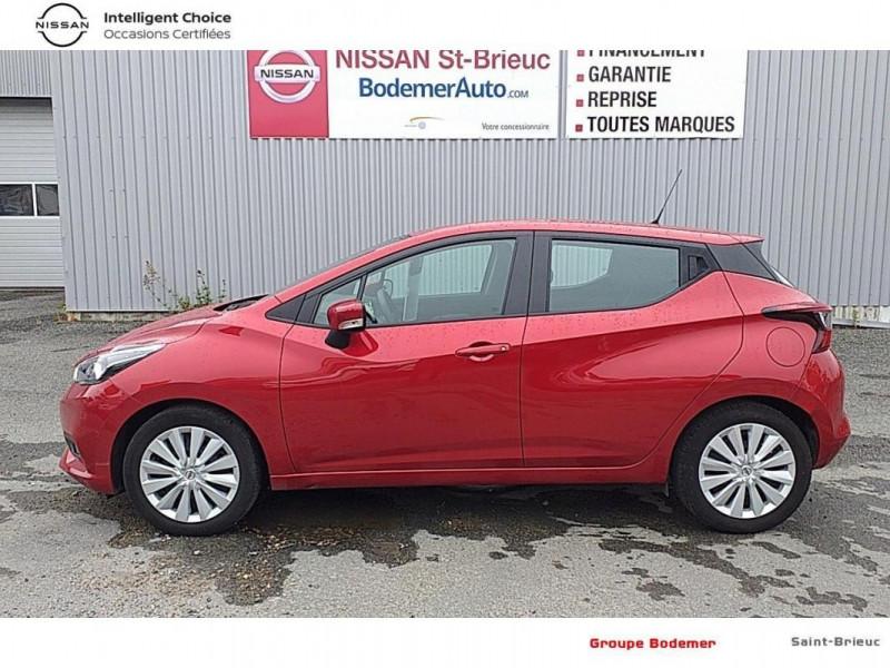 Nissan Micra 2017 1.0 - 71 Acenta Rouge occasion à SAINT-BRIEUC - photo n°2