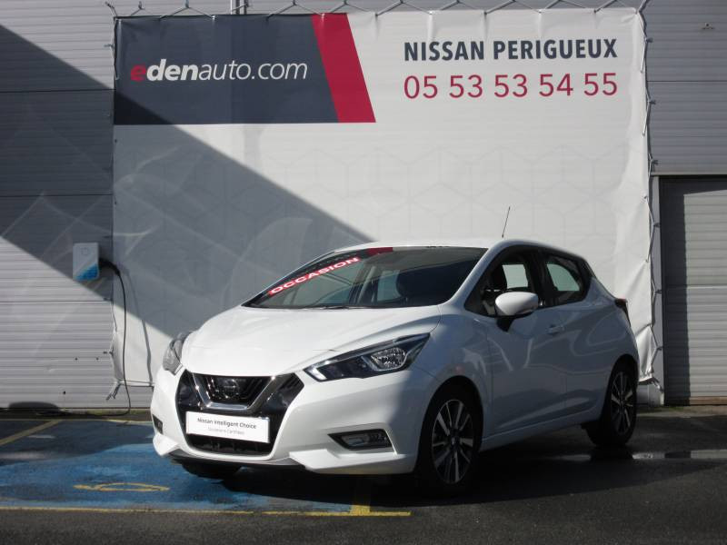 Nissan Micra 2017 IG-T 90 Made in France Blanc occasion à Périgueux