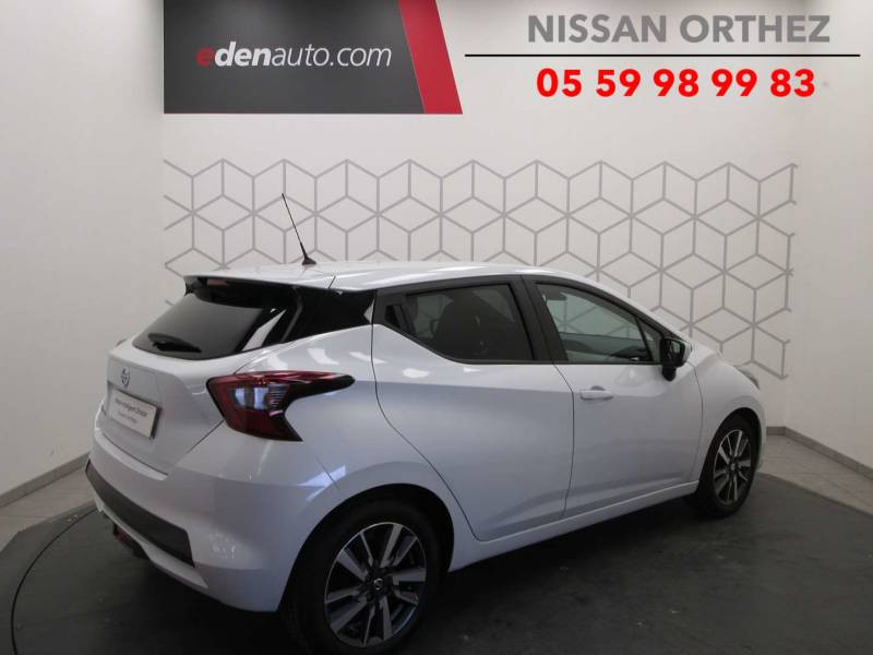 Nissan Micra 2017 IG-T 90 N-Connecta Blanc occasion à Orthez - photo n°2