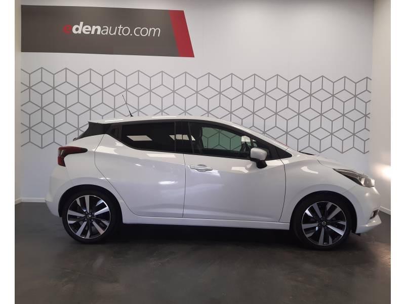 Nissan Micra 2017 IG-T 90 Tekna Blanc occasion à Bergerac - photo n°4