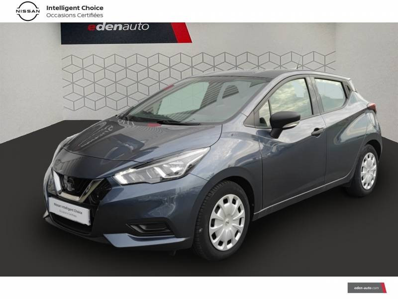Nissan Micra 2018 IG 71 Visia Pack Gris occasion à Angoulins - photo n°1