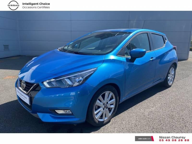 Nissan Micra 2019 EVAPO IG-T 100 Xtronic N-Connecta Bleu occasion à Chauray