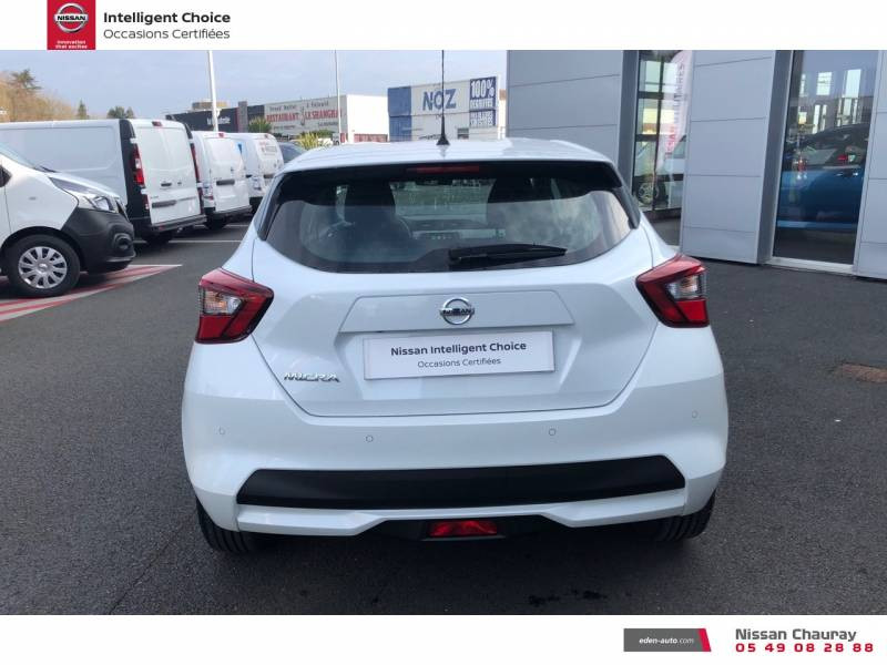 Nissan Micra BUSINESS 2019 EVAPO IG-T 100 Edition Blanc occasion à Chauray - photo n°4