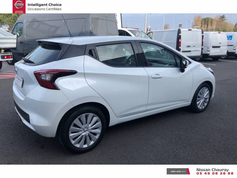 Nissan Micra BUSINESS 2019 EVAPO IG-T 100 Edition Blanc occasion à Chauray - photo n°13