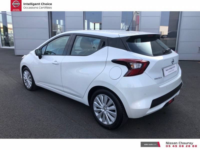 Nissan Micra BUSINESS 2019 EVAPO IG-T 100 Edition Blanc occasion à Chauray - photo n°7