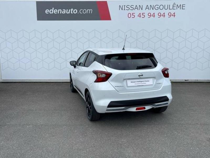Nissan Micra Micra IG-T 92 N-Sport 5p Blanc occasion à Champniers - photo n°3
