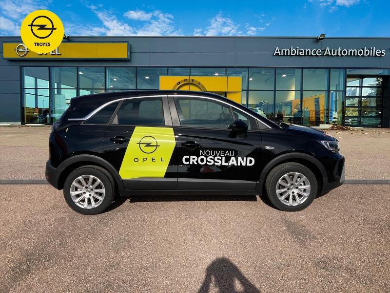 Opel Crossland X 1.2 Turbo 110ch Elegance 6cv Noir occasion à Barberey-Saint-Sulpice - photo n°4
