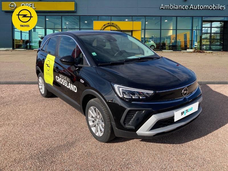 Opel Crossland X 1.2 Turbo 110ch Elegance 6cv Noir occasion à Barberey-Saint-Sulpice - photo n°3