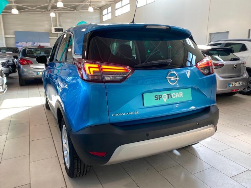 Opel Crossland X 1.5 D 102ch Elegance Euro 6d-T Bleu occasion à Lognes - photo n°3