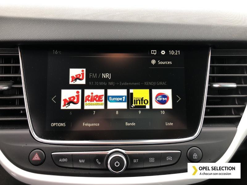Opel Crossland X 1.5 D 102ch Opel 2020 Euro 6d-T Blanc occasion à CASTRES - photo n°12