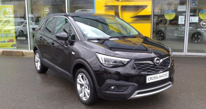 Opel Crossland X BUSINESS 1.2 Turbo 110ch S/S BVM6 (2020A) Noir occasion à vert-saint-denis