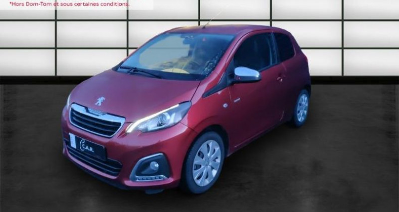 Peugeot 108 VTi 72 Style S&S 85g 3p Rouge occasion à La Rochelle