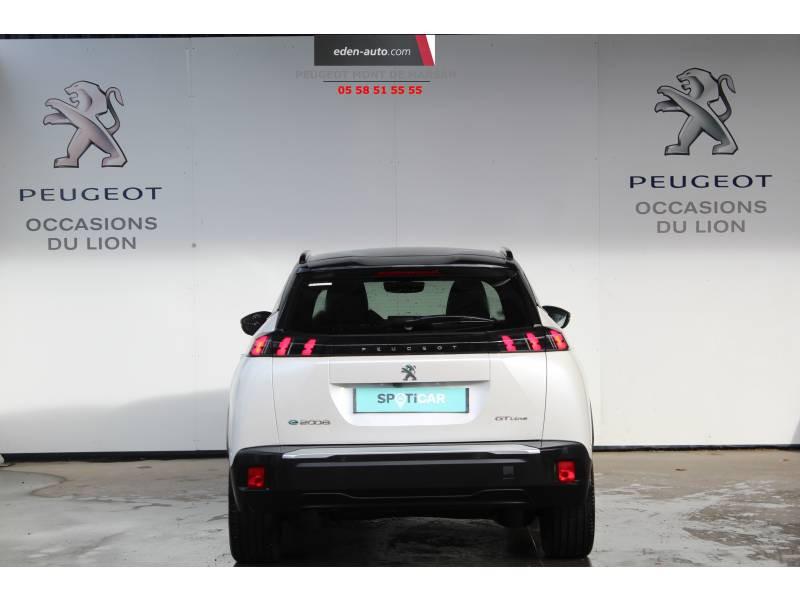Peugeot 2008 Moteur électrique 136 ch GT Line Blanc occasion à Saint Pierre du Mont - photo n°4