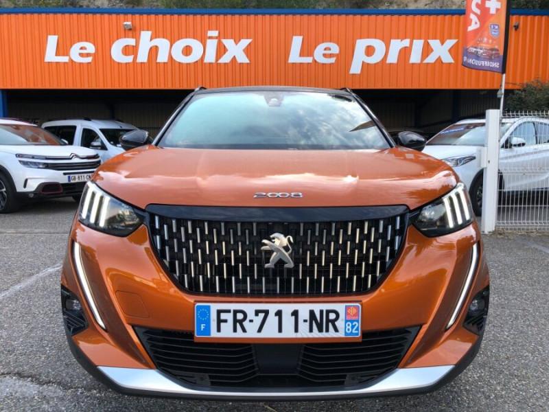Peugeot 2008 New BlueHDi 100 BV6 GT Line GPS 10 Caméra ADML Orange occasion à Montauban - photo n°2