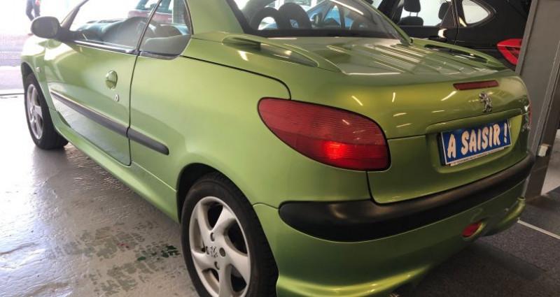 Peugeot 206 CC 1.6 16v Vert occasion à ROUEN - photo n°4