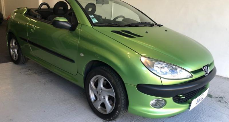 Peugeot 206 CC 1.6 16v Vert occasion à ROUEN - photo n°3