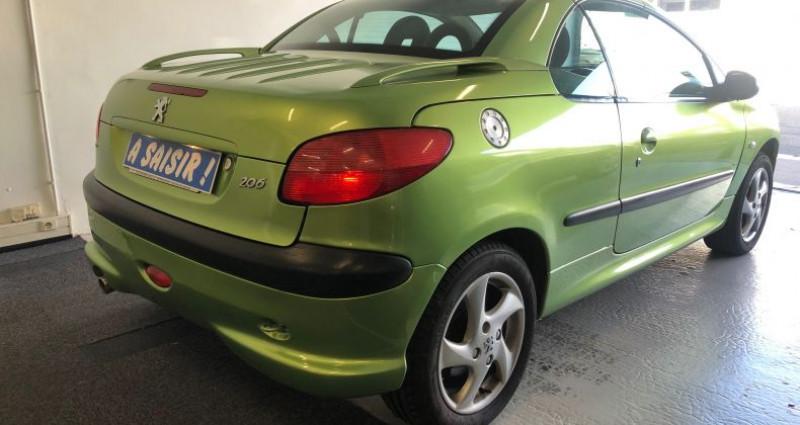 Peugeot 206 CC 1.6 16v Vert occasion à ROUEN - photo n°2