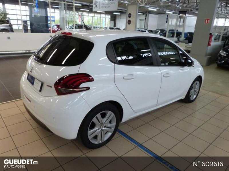 Peugeot 208 1.6 BlueHDi 75ch Business S&S 5p Blanc occasion à Meaux - photo n°5