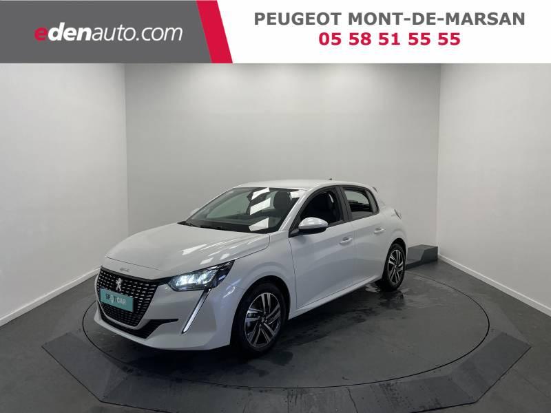 Peugeot 208 BlueHDi 100 S&S BVM6 Allure Blanc occasion à Saint Pierre du Mont