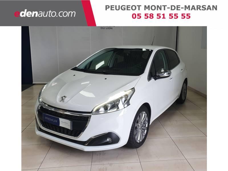 Peugeot 208 BlueHDi 100ch S&S BVM5 Allure Blanc occasion à Saint-Pierre-du-Mont