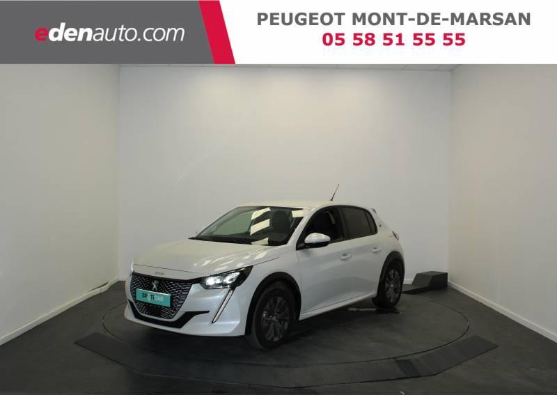 Peugeot 208 Electrique 50 kWh 136ch Allure Business Blanc occasion à Saint-Pierre-du-Mont