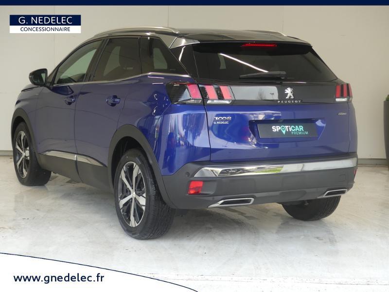 Peugeot 3008 1.5 BlueHDi 130ch E6.c GT Line S&S 7cv Bleu occasion à Carhaix-Plouguer - photo n°6