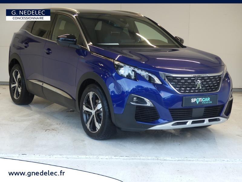 Peugeot 3008 1.5 BlueHDi 130ch E6.c GT Line S&S 7cv Bleu occasion à Carhaix-Plouguer - photo n°3