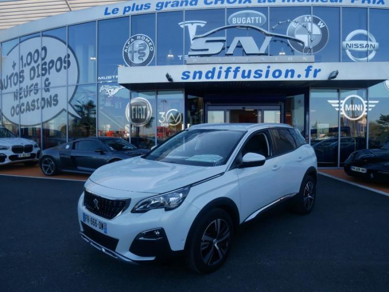 Peugeot 3008 BlueHDi 130 EAT8 ALLURE Hayon Barres Drive Assist Blanc occasion à Carcassonne