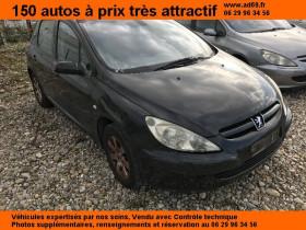 Peugeot 307 Noir, garage VOITURE PAS CHERE RHONE ALPES à Saint-Bonnet-de-Mure