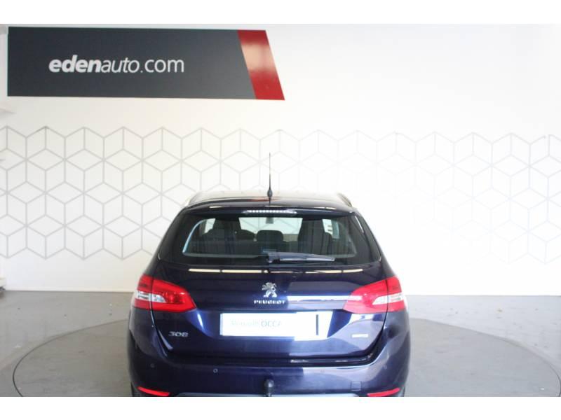 Peugeot 308 SW SW 1.6 BlueHDi 120ch S&S BVM6 Allure Bleu occasion à TARBES - photo n°4