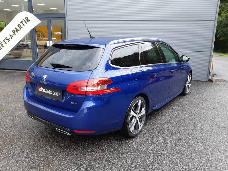 Peugeot 308 SW SW 2.0 BlueHDi 180ch S&S EAT6 GT Bleu occasion à Tulle - photo n°2