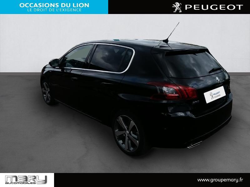 Peugeot 308 1.2 PureTech 130ch S&S GT Line 7cv Noir occasion à Vire - photo n°7