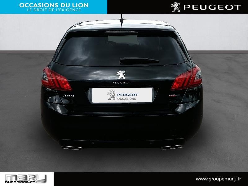 Peugeot 308 1.2 PureTech 130ch S&S GT Line 7cv Noir occasion à Vire - photo n°5