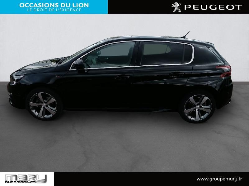 Peugeot 308 1.2 PureTech 130ch S&S GT Line 7cv Noir occasion à Vire - photo n°4