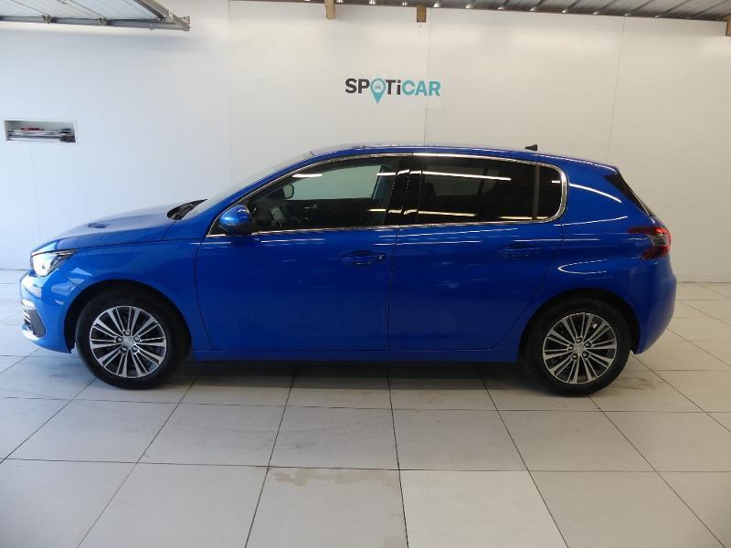 Peugeot 308 1.5 BlueHDi 130ch S&S Allure Pack EAT8 Bleu occasion à Concarneau - photo n°4