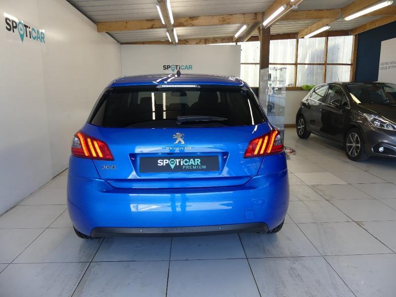Peugeot 308 1.5 BlueHDi 130ch S&S Allure Pack EAT8 Bleu occasion à Concarneau - photo n°5