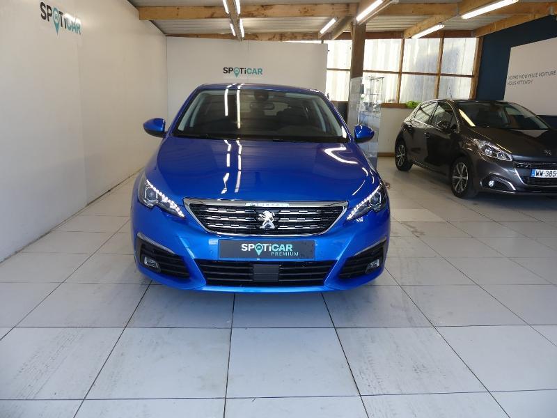 Peugeot 308 1.5 BlueHDi 130ch S&S Allure Pack EAT8 Bleu occasion à Concarneau - photo n°2