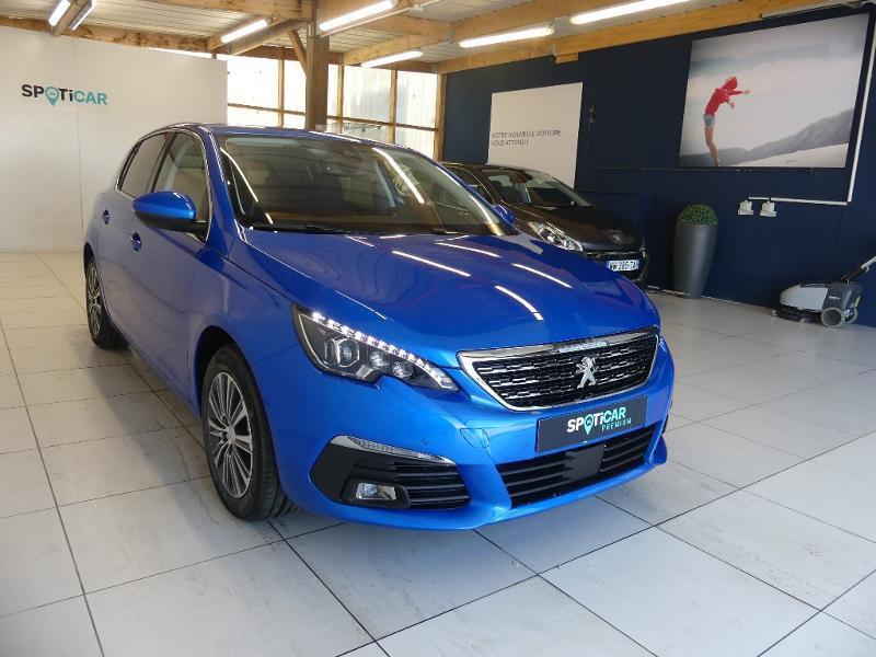 Peugeot 308 1.5 BlueHDi 130ch S&S Allure Pack EAT8 Bleu occasion à Concarneau - photo n°3