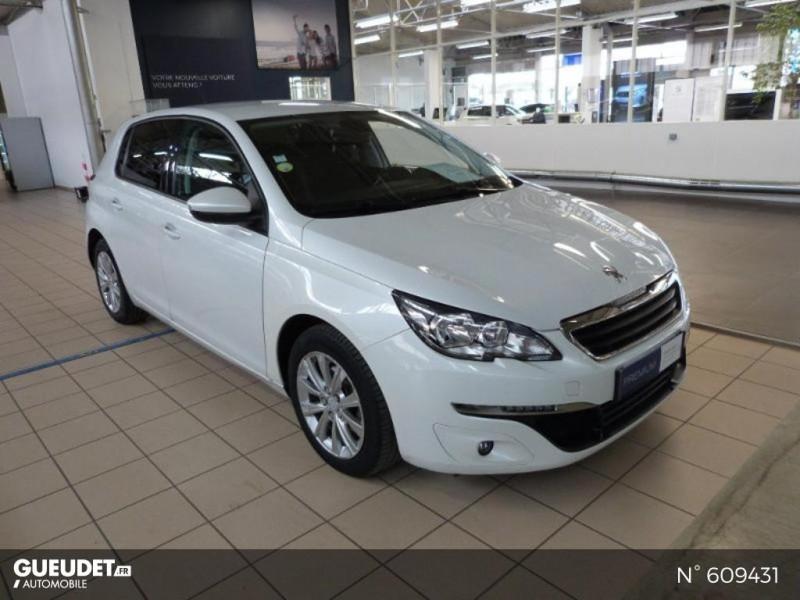 Peugeot 308 1.6 BlueHDi 120ch Style S&S 5p Blanc occasion à Meaux - photo n°2
