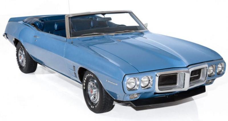 Pontiac Firebird Cabriolet 1969 - V8 350Ci - Boite Manuelle Bleu occasion à Villennes Sur Seine