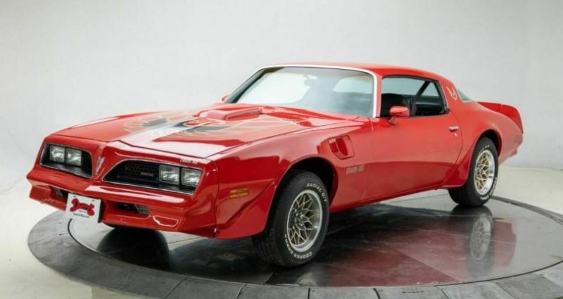 Pontiac Firebird Trans AM 1977 - V8 400Ci - Boite Auto Rouge occasion à Villennes Sur Seine