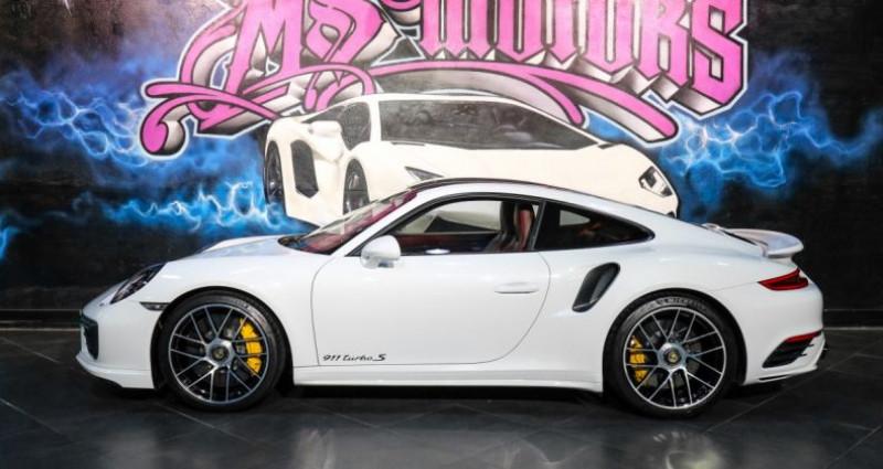 Porsche 911 Type 991 (991) (2) 3.8 580 TURBO S Blanc occasion à CANNES - photo n°3