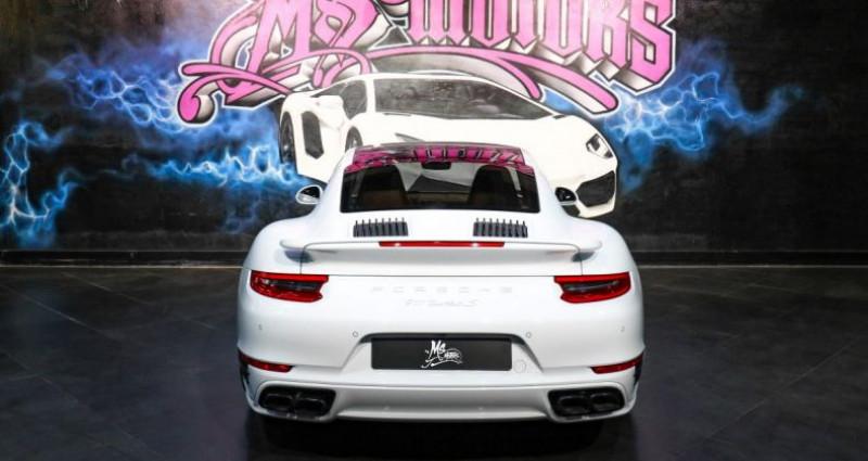 Porsche 911 Type 991 (991) (2) 3.8 580 TURBO S Blanc occasion à CANNES - photo n°4