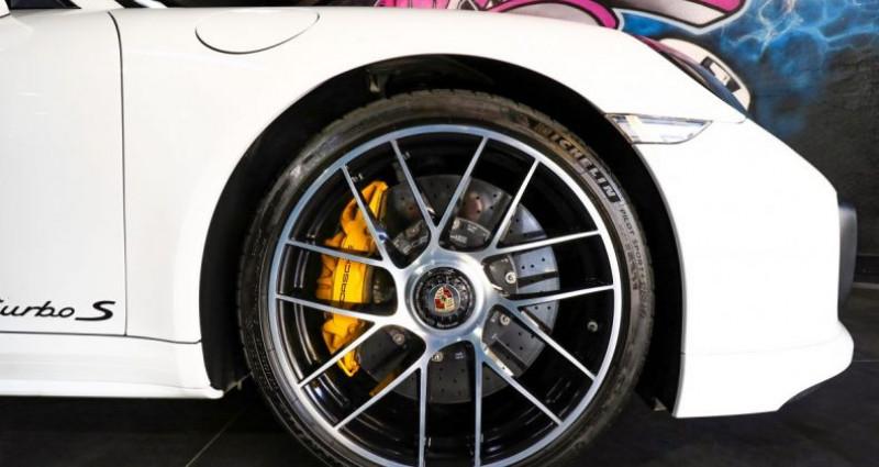 Porsche 911 Type 991 (991) (2) 3.8 580 TURBO S Blanc occasion à CANNES - photo n°6