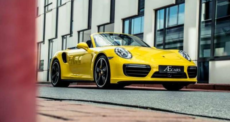 Porsche 911 Type 991 991.2 TURBO S - 1 OWNER - FULL - CARBON Jaune occasion à IZEGEM