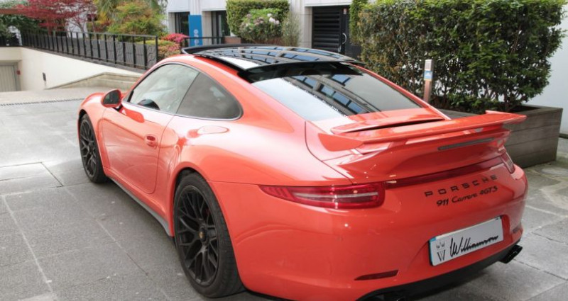 Porsche 911 Type 991 991 carrera 4 gts aero kit 430hp 2 Orange occasion à Neuilly Sur Seine - photo n°6
