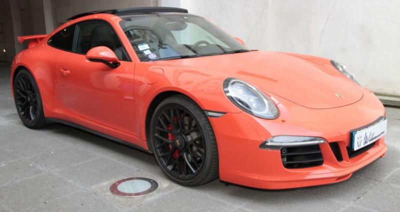 Porsche 911 Type 991 991 carrera 4 gts aero kit 430hp 2 Orange occasion à Neuilly Sur Seine - photo n°3