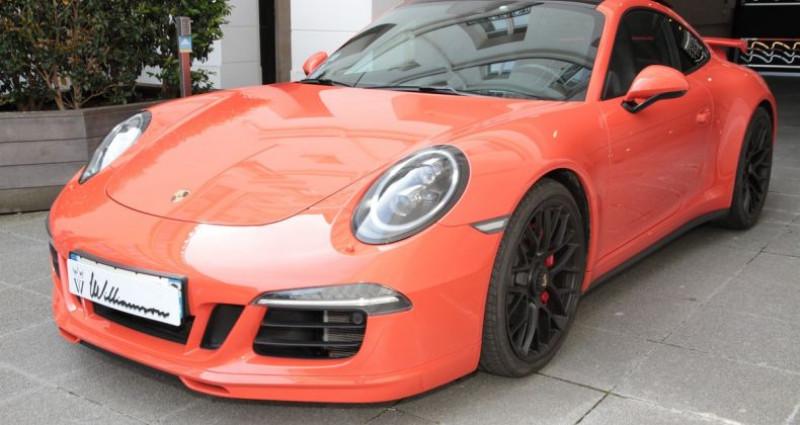 Porsche 911 Type 991 991 carrera 4 gts aero kit 430hp 2 Orange occasion à Neuilly Sur Seine